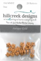 click here to view larger image of Antique Gold Micro Mini Stars (button pack)