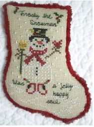 click here to view larger image of Sing A Song Of Christmas 3 - Frosty The Snowman (chart with charms/buttons)