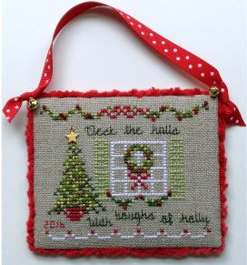 click here to view larger image of Deck The Halls - 2016 Limited Edition Ornament Kit (counted cross stitch kit)