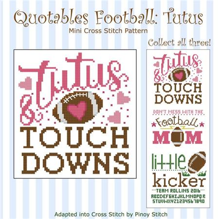 click here to view larger image of Quotables Football Tutus (chart)