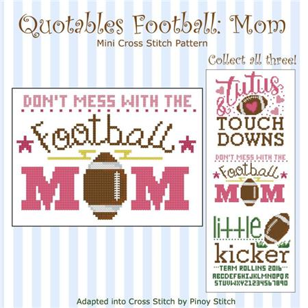 click here to view larger image of Quotables Football Mom (chart)