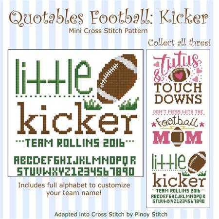 click here to view larger image of Quotables Football Kicker (chart)