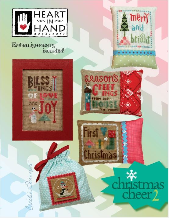 click here to view larger image of Christmas Cheer 2 (chart with charms/buttons)