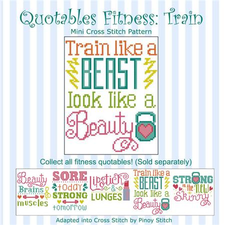 click here to view larger image of Quotables Fitness - Train Like A Beast (chart)