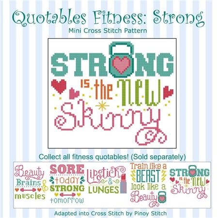 click here to view larger image of Quotables Fitness - Strong New Skinny (chart)