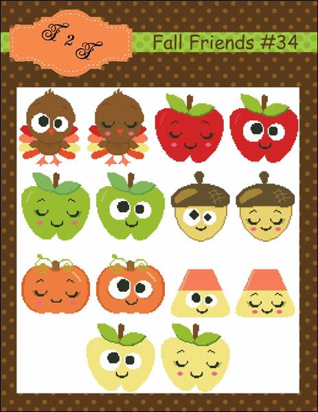 click here to view larger image of Fall Friends (chart)