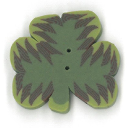 click here to view larger image of Large Three Leaf Clover Button (buttons)