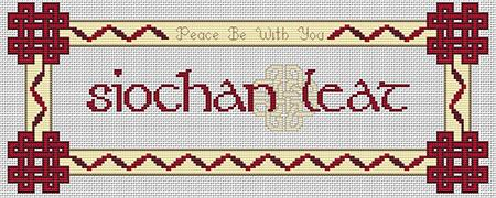 click here to view larger image of Peace Be With You (Gaelic) (chart)