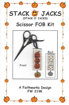 click here to view larger image of Stack O Jacks Scissor Fob Kit (counted cross stitch kit)