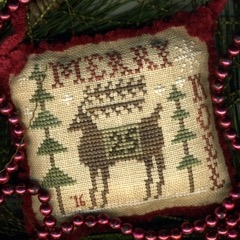 click here to view larger image of Merry Deery Sampler Ornament - 2016 Annual Christmas Ornament (chart)
