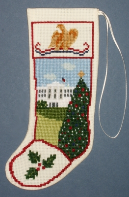 click here to view larger image of White House Stocking Ornament (counted cross stitch kit)