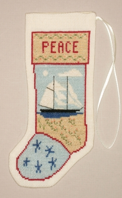 click here to view larger image of Kedron Schooner Stocking Ornament (counted cross stitch kit)