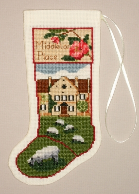 Middleton Place Stocking Ornament - click here for more details about counted cross stitch kit