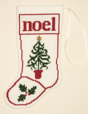 click here to view larger image of Christmas Tree Stocking Ornament (counted cross stitch kit)