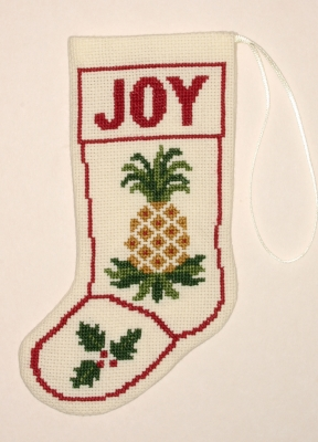 click here to view larger image of Pineapple Stocking Ornament (counted cross stitch kit)