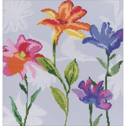 click here to view larger image of Flowers Of The Rainbow II (counted cross stitch kit)