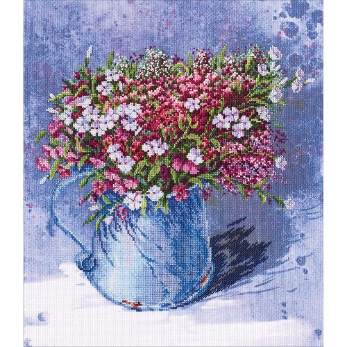 Delicate Bouquet - click here for more details about counted cross stitch kit