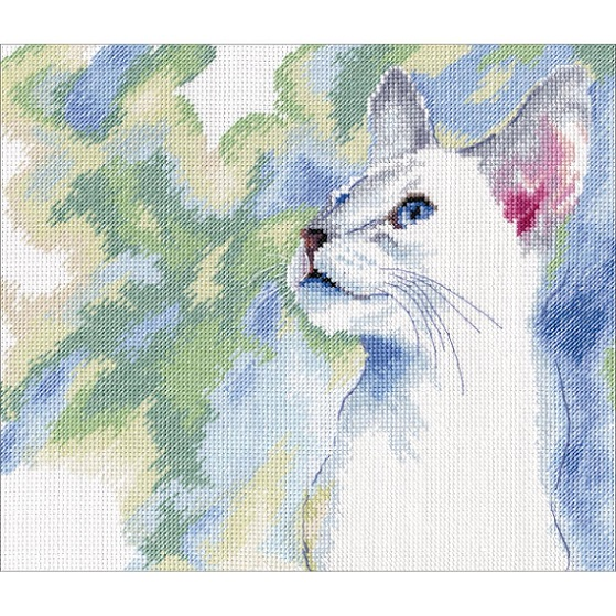 click here to view larger image of Feline Grace (counted cross stitch kit)