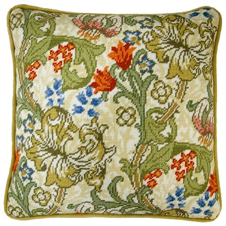 click here to view larger image of William Morris - Golden Lily (needlepoint)
