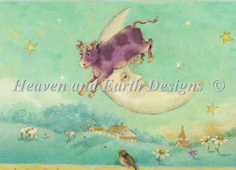 click here to view larger image of Cow Over The Moon - Tiny Treasures (chart)