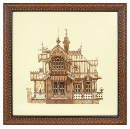 click here to view larger image of AS-1144 Wooden Palace (counted cross stitch kit)