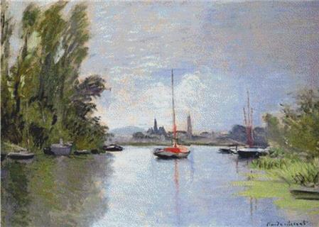 click here to view larger image of Argenteuil Seen From The Small Arm Of The Seine (chart)