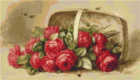 click here to view larger image of Basket Of Roses (chart)