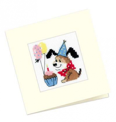 click here to view larger image of Happy Birthday Card (counted cross stitch kit)