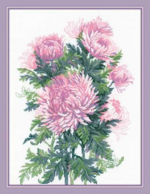 click here to view larger image of Bouquet Of Chrysanthemums (counted cross stitch kit)