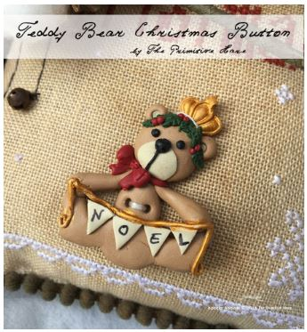 click here to view larger image of Teddy Bear Christmas Button (buttons)