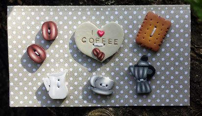 click here to view larger image of Coffee Buttons (pin)