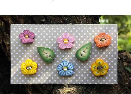 click here to view larger image of Flowers Buttons (buttons)