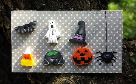 click here to view larger image of Halloween Buttons (buttons)
