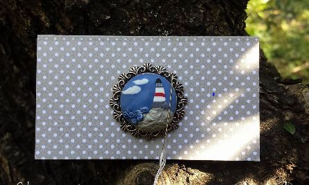 click here to view larger image of Lighthouse Needle Minder (pin)