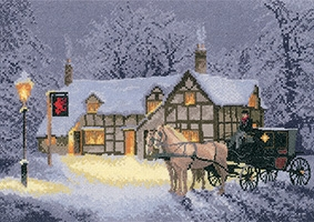 click here to view larger image of Christmas Inn - Evenweave (counted cross stitch kit)