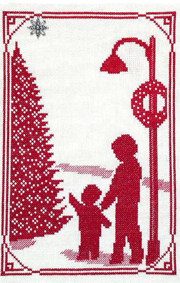 click here to view larger image of Tree In The Square - Christmas Memories (chart with charms/buttons)