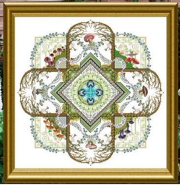 click here to view larger image of Mushroom and Fern Mandala (chart)