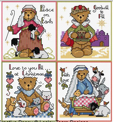 click here to view larger image of Traditional Christmas Cards (chart)