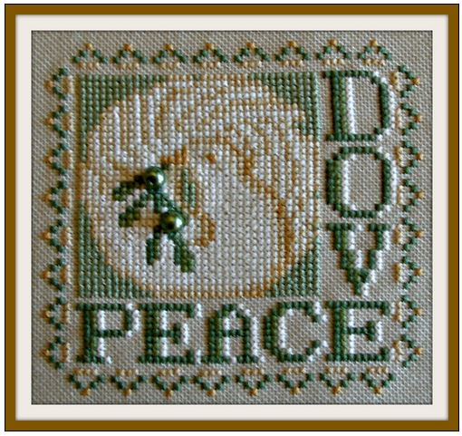 click here to view larger image of Word Play - Peace Dove (chart with charms/buttons)