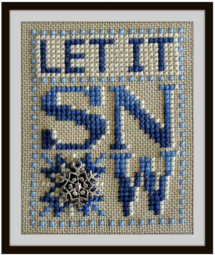 click here to view larger image of Love Bits - Let It Snow (chart with charms/buttons)