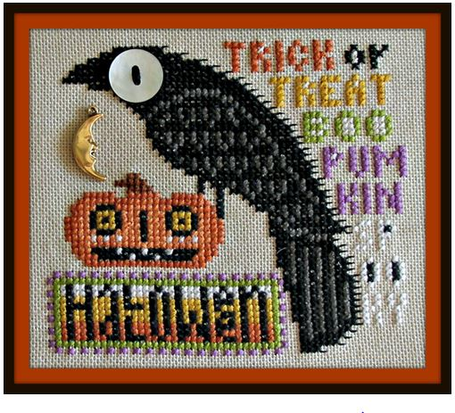 click here to view larger image of Birds Eye - Halloween (chart with charms/buttons)