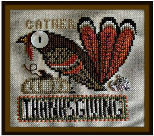 click here to view larger image of Birds Eye - Thanksgiving (chart with charms/buttons)