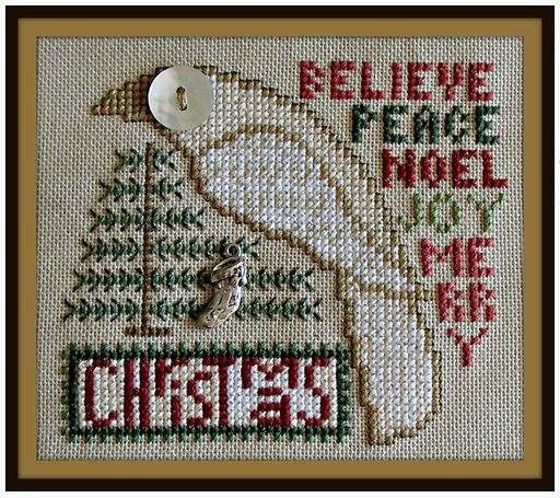 click here to view larger image of Birds Eye - Christmas (chart with charms/buttons)