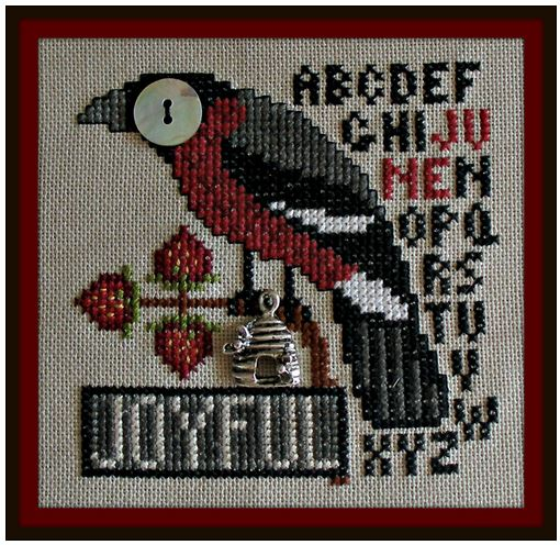 click here to view larger image of Birds Eye - Joyful June (chart with charms/buttons)