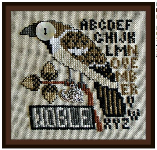 click here to view larger image of Birds Eye - Noble November (chart with charms/buttons)