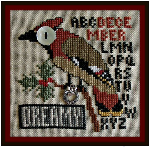 click here to view larger image of Birds Eye - Dreamy December (chart with charms/buttons)