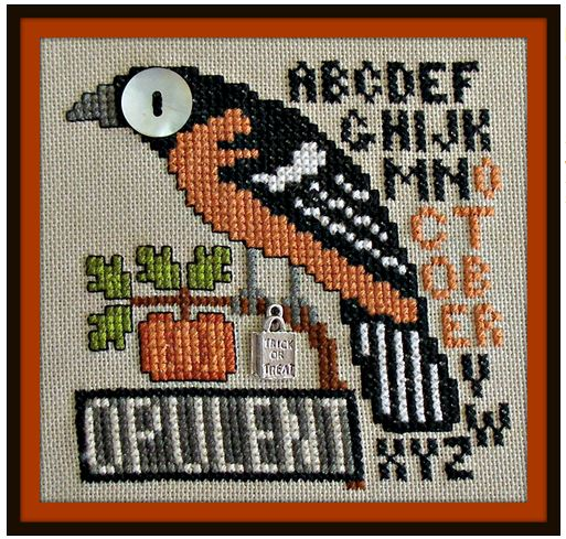 click here to view larger image of Birds Eye - Opulent October (chart with charms/buttons)
