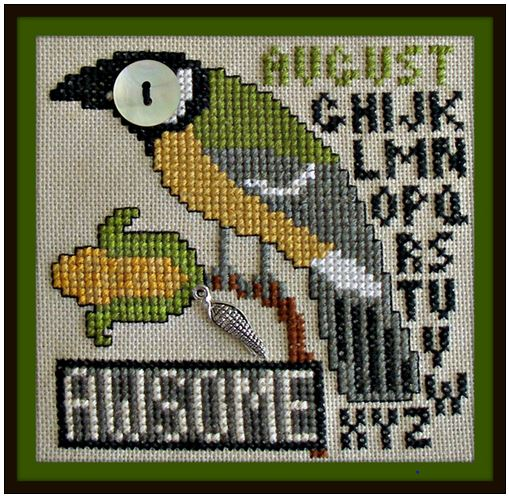 click here to view larger image of Birds Eye - Awesome August (chart with charms/buttons)