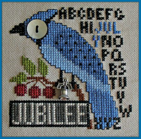 click here to view larger image of Birds Eye - Jubilee July (chart with charms/buttons)