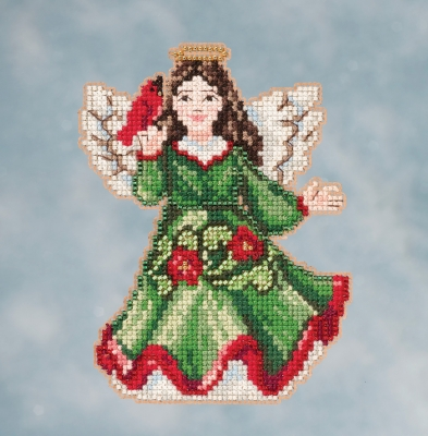 click here to view larger image of Angel With Cardinal (counted cross stitch kit)